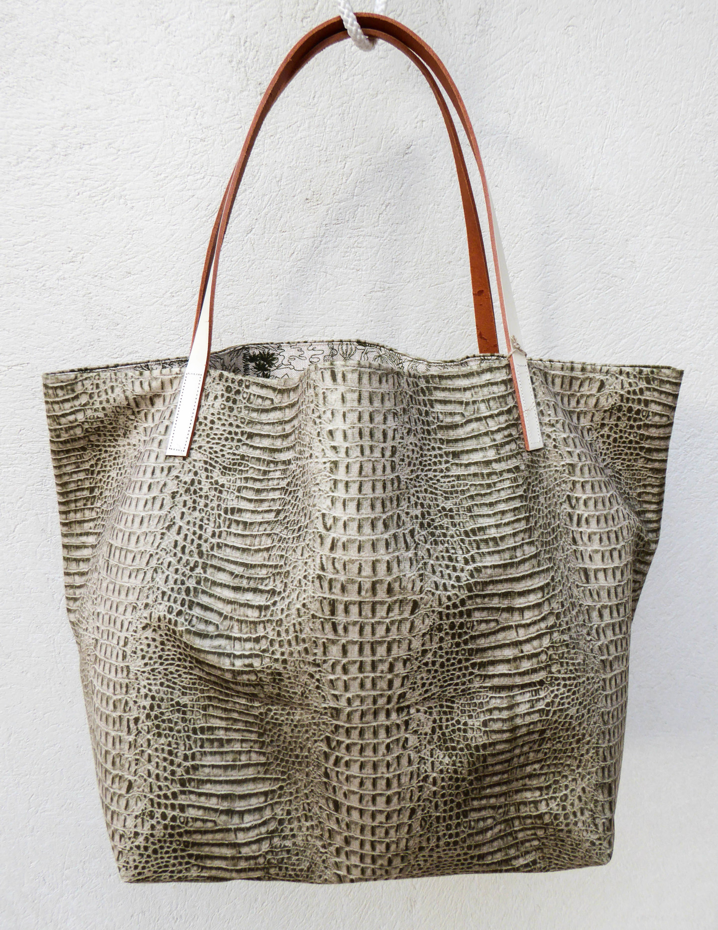 "Un Monde Nomade - Sac shopping  ""Alligator & jungle"""