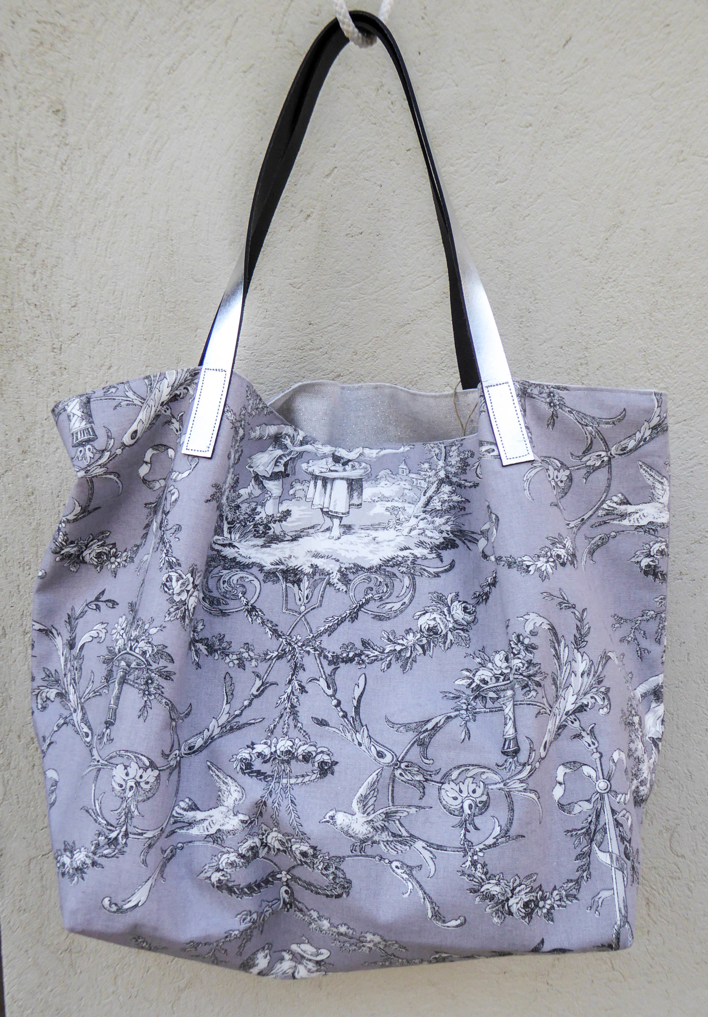 """Un Monde Nomade - Sac shopping  """"Jouy gris"""""""