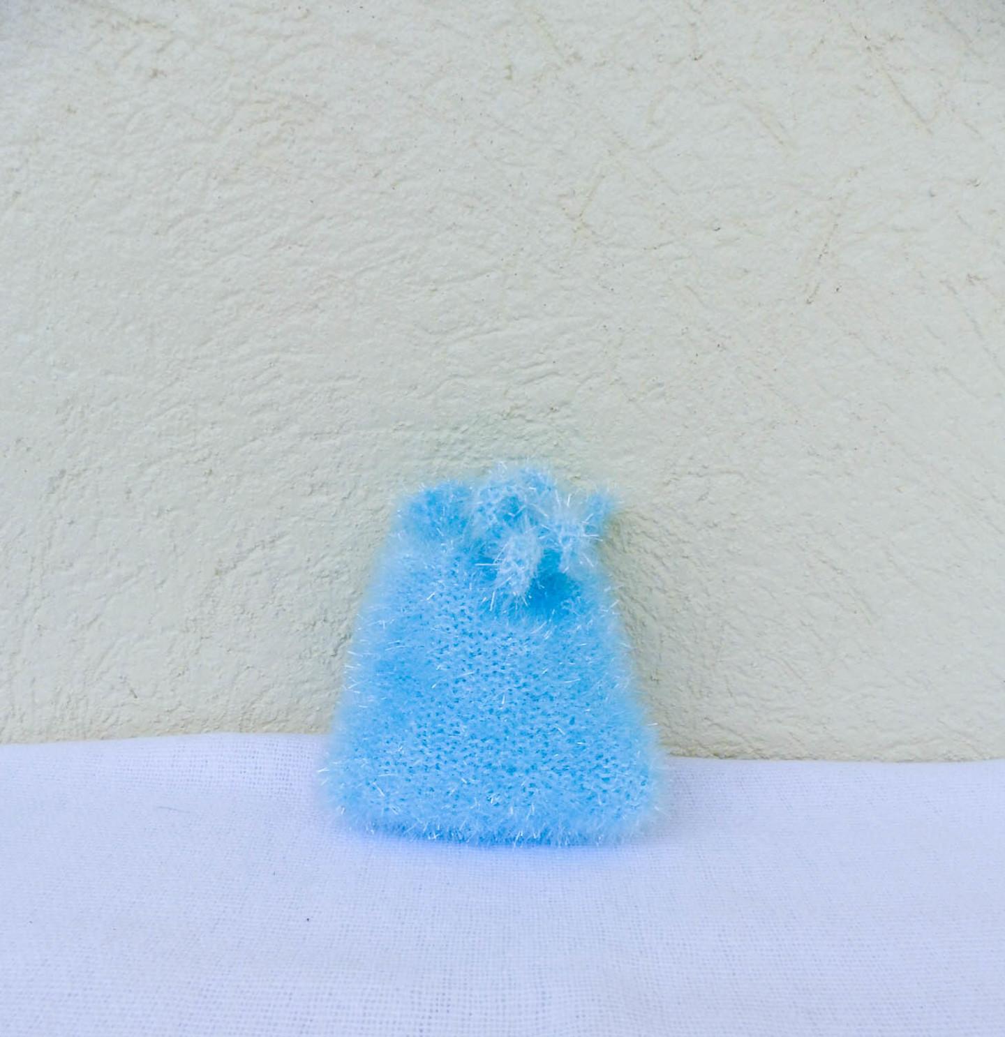 """Un Monde Nomade - Mini-gant  """"Tawashi""""  visage - Turquoise"""