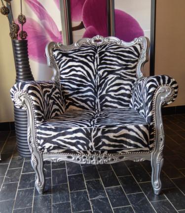 fauteuil baroque zébré