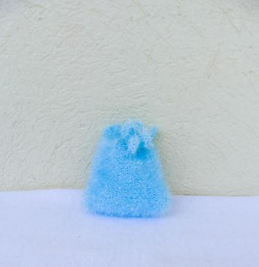 "Mini-gant  ""Tawashi""  visage - Turquoise"