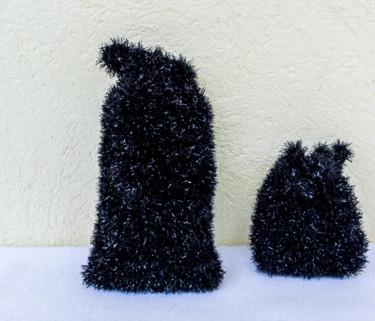 """Ensemble de gants  """"Tawashi"""" corps et visage - Noirs"""