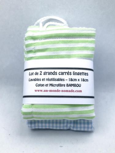"""Grands carrés lingettes  """"Jardin"""""""